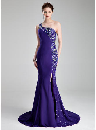 Luxurious With Trumpet/Mermaid Chiffon Prom Dresses