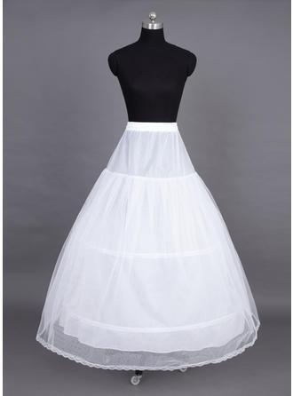 Unterröcke Bodenlang Tüll Netting Volle Kleid Gleiten 2 Ebenen Reifröcke