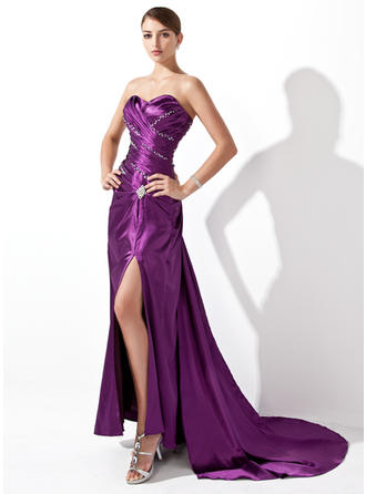 Charmeuse Sexy Evening Dresses With Sweetheart
