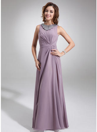 Beautiful Chiffon Scoop Neck A-Line/Princess Mother of the Bride Dresses