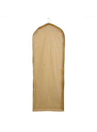 Garment Bags Gown Length Side Zip Tulle/PVC Champagne Wedding Garment Bag