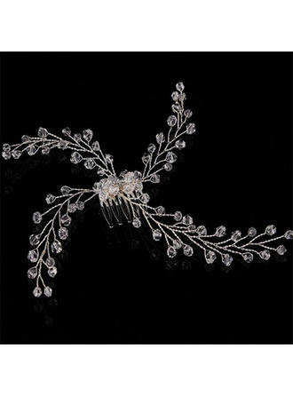 "Combs & Barrettes Wedding/Special Occasion/Casual/Party/Art photography Crystal 4.92""(Approx.12.5cm) 4.33""(Approx.11cm) Headpieces"