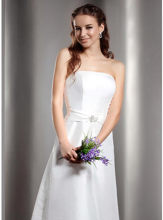 Aライン/プリンセスライン2 マキシレングス Taffeta マキシレングス ブライドメイドドレス (007001078)