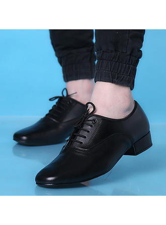 Men's Latin Modern Real Leather Dance Shoes