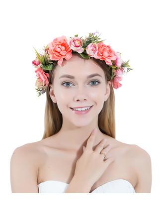 Filles Beau Fleur en soie/Satiné Bandeaux