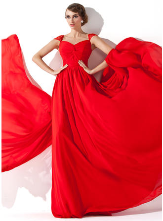Beautiful V-neck A-Line/Princess Chiffon Evening Dresses