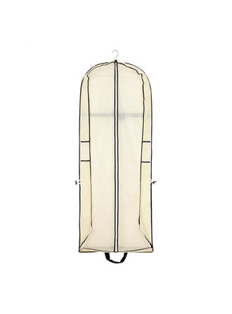 Garment Bags Dress Length Center Zip Nonwoven Fabric Beige Wedding Garment Bag (035192301)