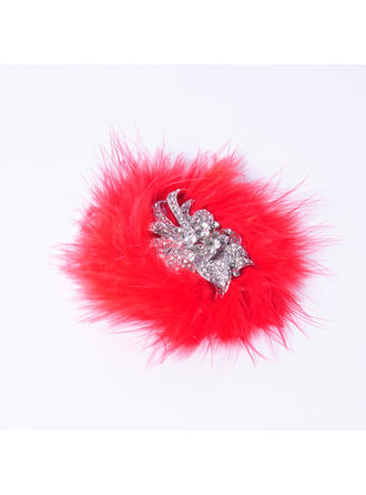 Elegant Rhinestone/Alloy/Feather Flowers & Feathers