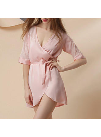 Sleepwear Casual/Wedding/Special Occasion Bridal/Feminine/Fashion Polyester/Artificial Silk Sexy Lingerie