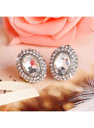 Boucles d'oreilles Alliage/Strass Clip d'oreille Dames Romantique Mariage & Bijoux de Soirée