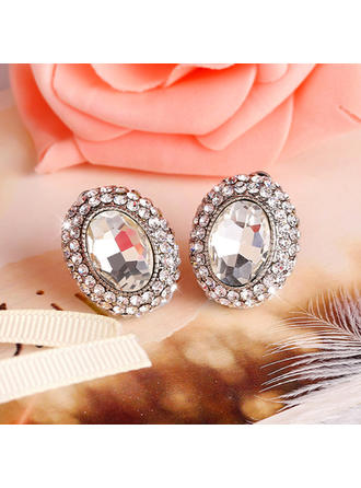 Earrings Alloy/Rhinestones Earclip Ladies' Romantic Wedding & Party Jewelry