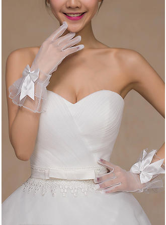 Lace Ladies' Gloves Bridal Gloves Fingertips 18cm(Approx.7.09inch) Gloves
