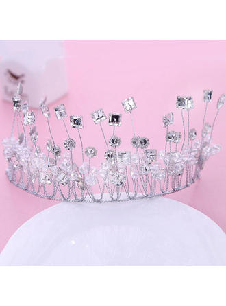 "Tiaras Wedding/Special Occasion/Party Rhinestone 5.91""(Approx.15cm) 2.76""(Approx.7cm) Headpieces"