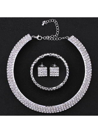 Jewelry Sets Alloy/Rhinestones Pierced Ladies' Beautiful Wedding & Party Jewelry
