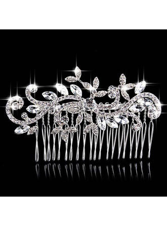 "Combs & Barrettes Wedding/Special Occasion/Party Rhinestone/Alloy 3.94""(Approx.10cm) 2.36""(Approx.6cm) Headpieces"