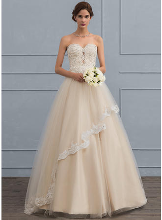 Beading Sequins Ball-Gown - Tulle Wedding Dresses