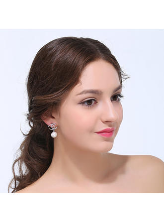 Earrings Zircon Pierced Ladies' Elegant Wedding & Party Jewelry