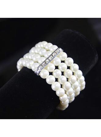 Armbänder Faux-Perlen Damen Exquisiten Ketten-u-Armbänder Hochzeits- & Partyschmuck