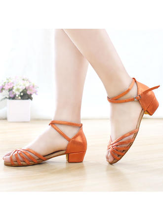 Women's Latin Leatherette With Ankle Strap Dance Shoes