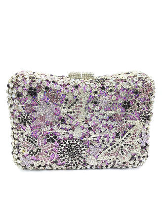 Clutches/Luxury Clutches Wedding/Ceremony & Party Crystal/ Rhinestone/Alloy Magnetic Closure Fashional Clutches & Evening Bags (012186171)