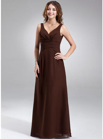 Magnificent V-neck A-Line/Princess Sleeveless Chiffon Bridesmaid Dresses