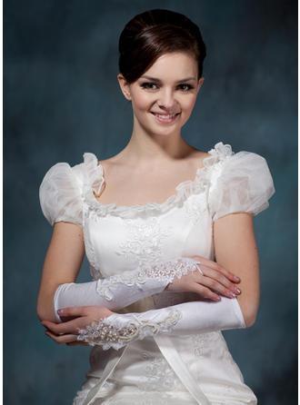 Elastic Satin Ladies' Gloves Elbow Length Bridal Gloves Fingerless Gloves