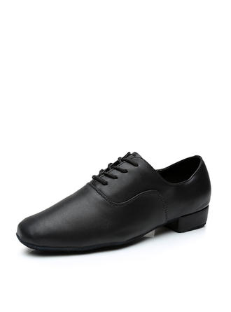 Men's Ballroom Leatherette With Lace-up Dance Shoes