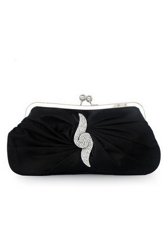 Clutches Wedding/Ceremony & Party Silk Kiss lock closure Elegant Clutches & Evening Bags