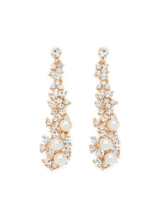 Earrings Alloy/Pearl/Rhinestones Pierced Ladies' Pretty Wedding & Party Jewelry