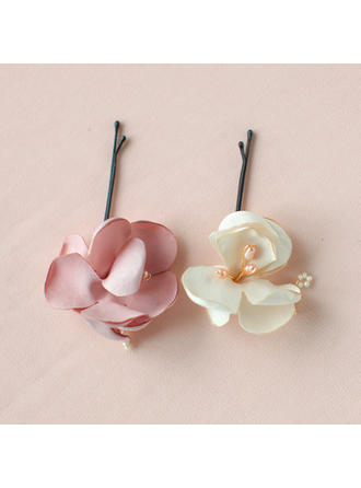 "Combs & Barrettes Wedding/Special Occasion/Party/Carnival Alloy/Satin 3.15""(Approx.8cm) 1.57""(Approx.4cm) Headpieces"