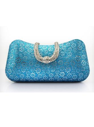 Clutches/Wristlets Wedding/Ceremony & Party/Casual & Shopping PU Magnetic Closure Classical Clutches & Evening Bags