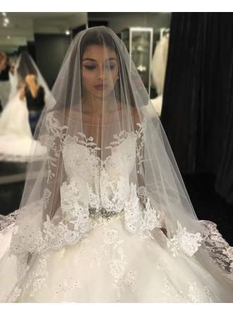 blue and white strapless wedding dresses
