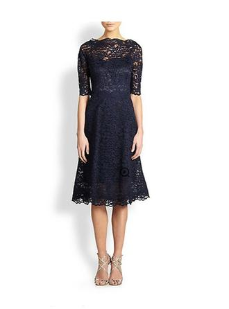 Tea-Length Mother of the Bride Dresses With Lace