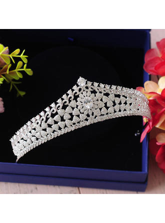 Ladies Beautiful Zircon Tiaras With Cubic Zirconia (Sold in single piece) (042142120)