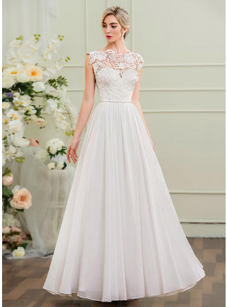 Chiffon A-Line/Princess With Newest General Plus Wedding Dresses