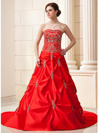 Sweetheart General Plus - Ball-Gown Satin Wedding Dresses