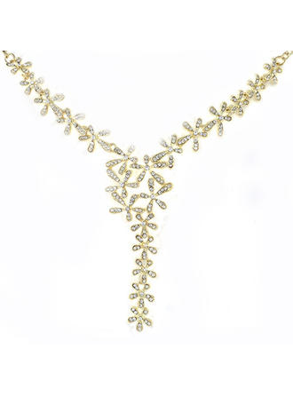 Necklaces Alloy Rhinestone Lobster Clasp Ladies' Wedding & Party Jewelry