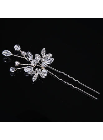 Hairpins Wedding/Special Occasion/Party/Carnival Rhinestone/Alloy Glamourous (Set of 2) Headpieces