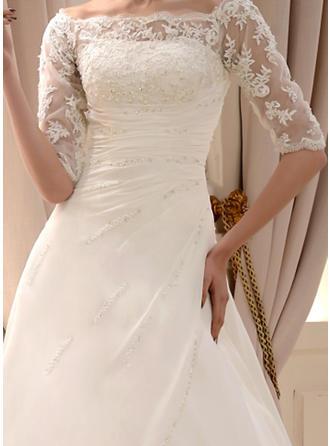 blush pink trumpet wedding dresses