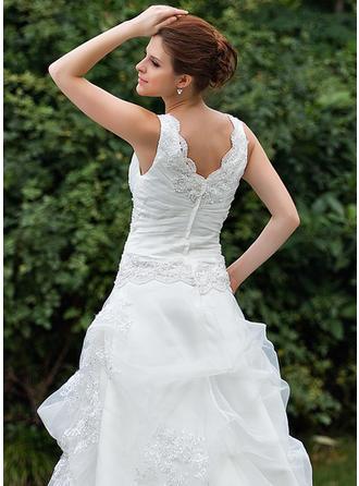 beach wedding dresses ruffles