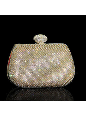 Clutches/Wristlets Wedding Crystal/ Rhinestone Clip Closure Shining Clutches & Evening Bags (012186793)