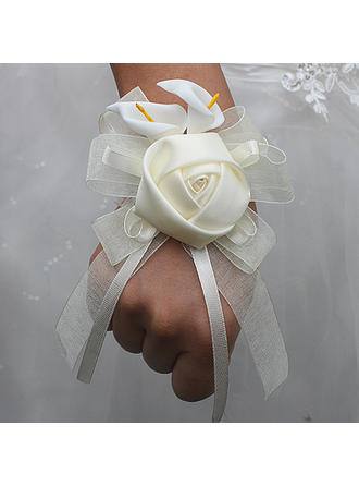 "Wrist Corsage Free-Form Wedding/Party Satin 2.76""(Approx.7cm) Wedding Flowers"