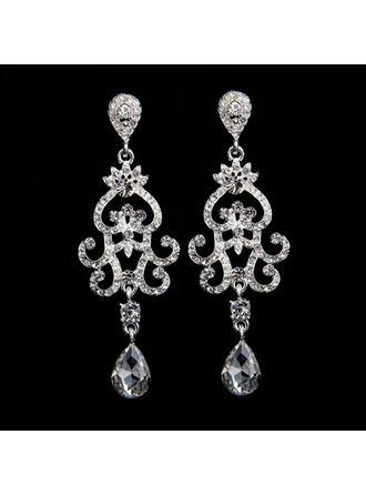 Maravilloso Aleación/Diamantes de imitación con Rhinestone Señoras' Pendientes