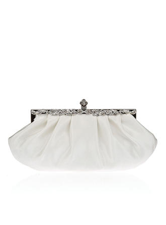 Clutches Wedding/Ceremony & Party Silk/Crystal/ Rhinestone Clip Closure Charming Clutches & Evening Bags