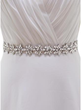 Women Satin With Rhinestones Sash Elegant Sashes & Belts