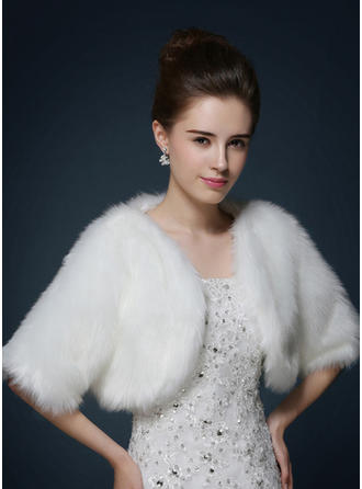 Wrap Wedding Faux Fur Other Colors Wraps