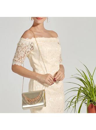 Handtaschen Hochzeit/Zeremonie & Party PU Schnippen Verschluss Elegant Clutches & Abendtaschen