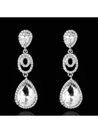 Earrings Rhinestones Pierced Ladies' Elegant Wedding & Party Jewelry