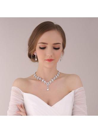 Jewelry Sets Alloy/Rhinestones Earclip Ladies' Beautiful Wedding & Party Jewelry