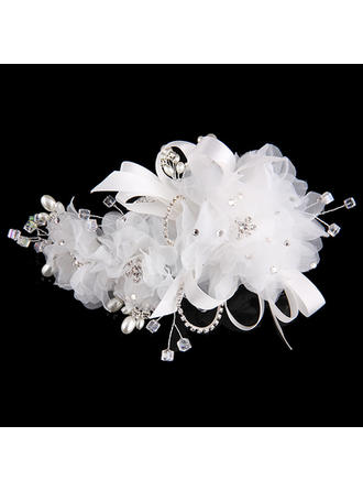 Special Rhinestone/Alloy/Imitation Pearls/Net Yarn/Silk Flower Headbands (Sold in single piece)